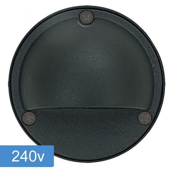 Bolton Step Light with Eyelid - 240v - Black