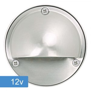 Bolton Step Light with Eyelid - 12v - 316ss