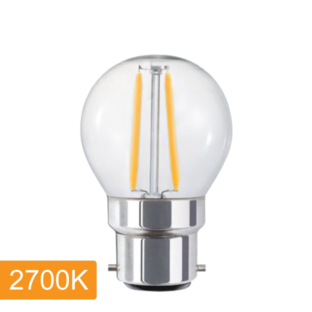 Fancy Round P45 4w Led Filament B22 2700k Harvey Norman