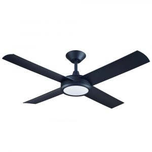 "Concept 3 52"" AC Ceiling Fan Matt Black with LED Light"