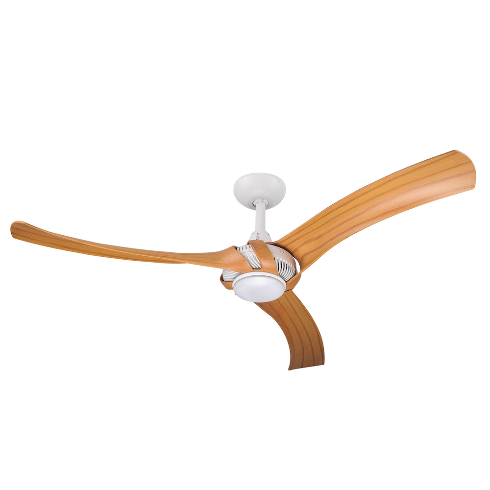 Aeroforce 2 52 Quot Ac Ceiling Fan White With Bamboo Blades