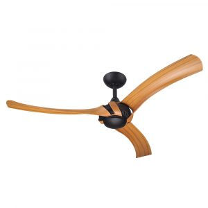 "Aeroforce 2 52"" AC Ceiling Fan Matt Black with Bamboo Blades"