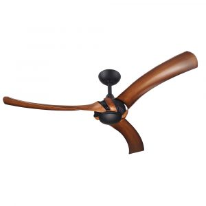 "Aeroforce 2 60"" AC Ceiling Fan Matt Black with Koa Blades"