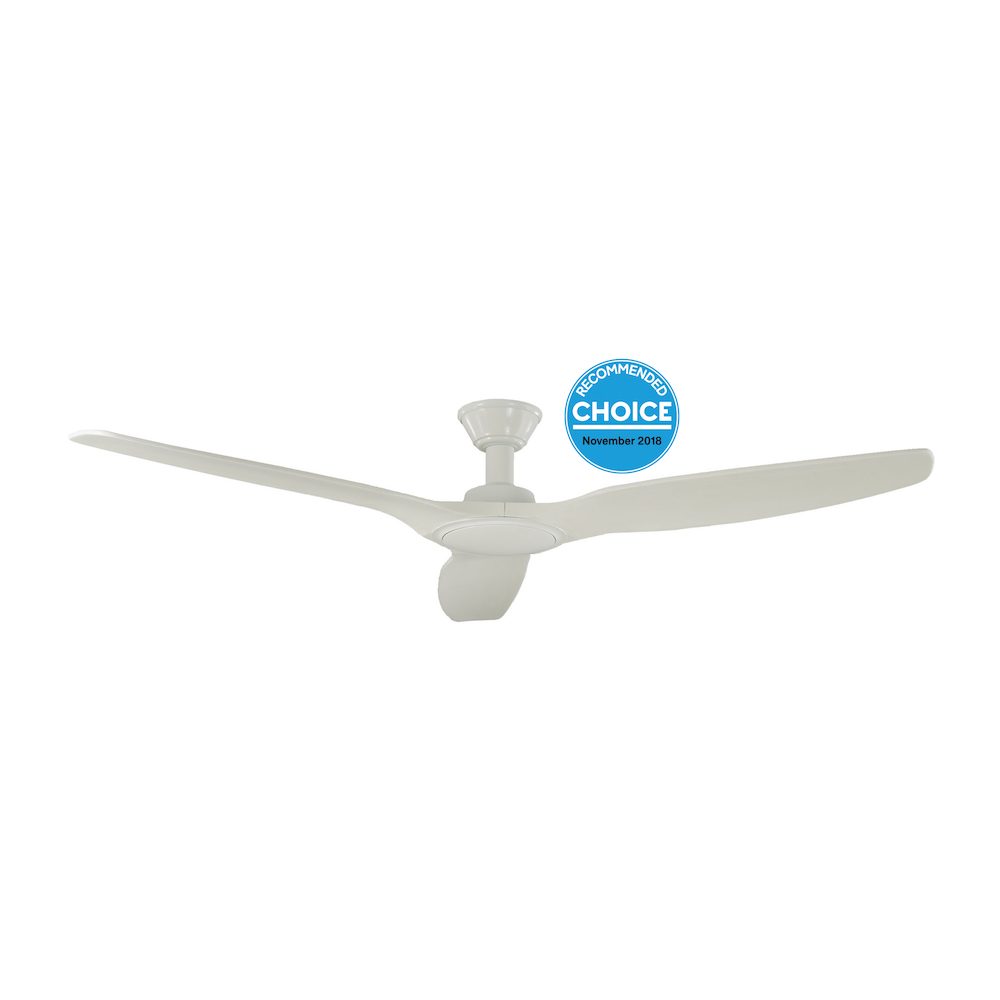 Trident Dc 3 Blade 70 Quot Natural Timber Blade No Light White Timber Ip23 Harvey Norman