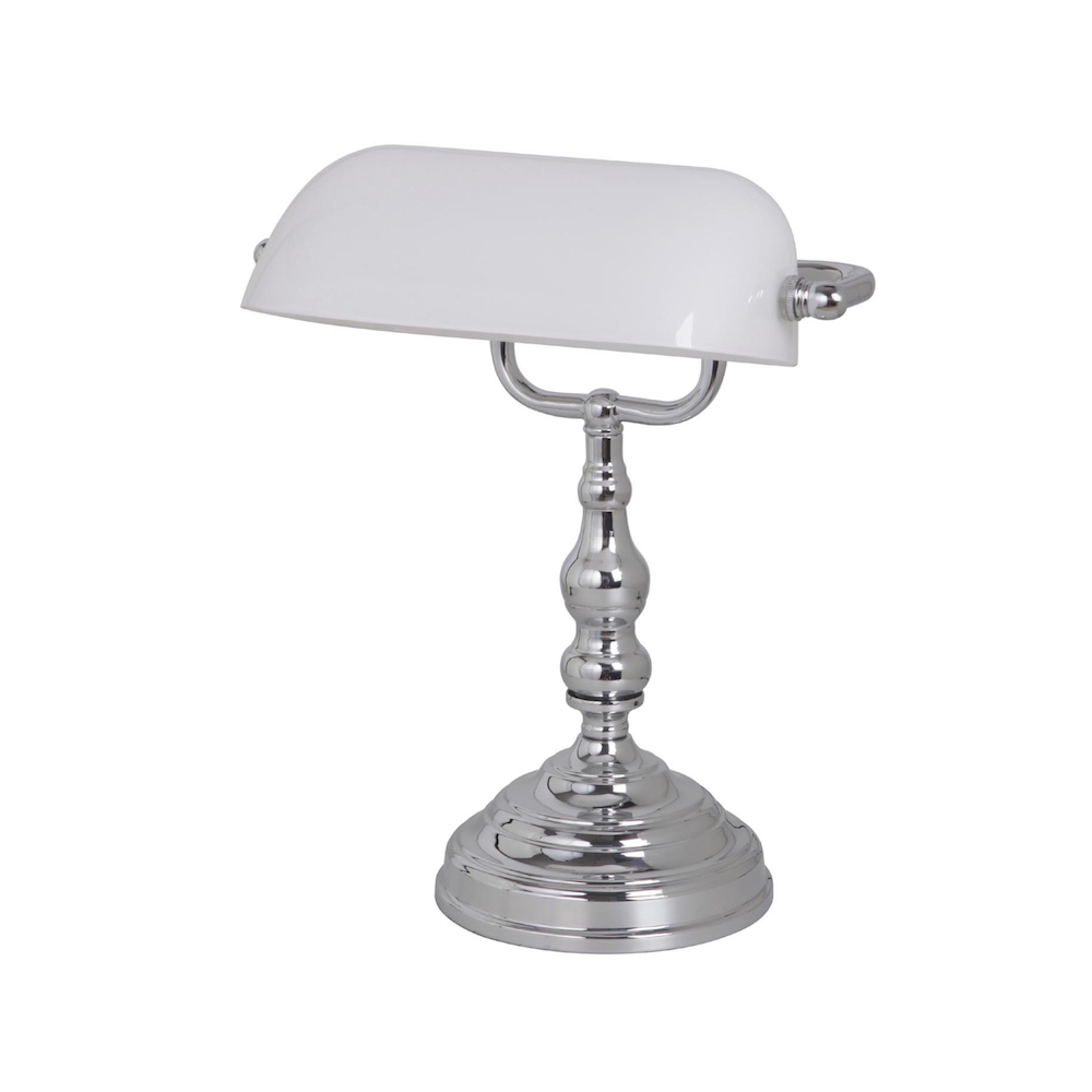 Bankers Table Lamp Ch Wh Harvey Norman